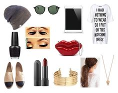 """fashion mania"" by kristina-hudakova on Polyvore featuring Moschino, Chanel, Coal, Ray-Ban, H&M, Pamela Love and OPI"