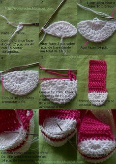 27 Ideas for crochet socks for kids baby boots Crochet Baby Boots, Crochet Baby Sandals, Booties Crochet, Crochet Slippers, Baby Booties, Knitted Baby, Crochet Stitches, Knit Crochet, Crochet Converse
