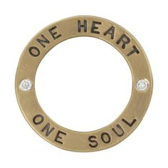 "Heather Moore 14K Yellow Gold Open Circle ""One Heart One Soul"" Round C · 100160 · Ben Garelick Jewelers"