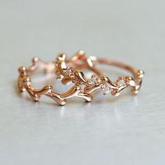 rose gold olive ring set of 2 - Kellinsilver