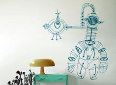 My parents let me draw on the walls, and I loved them for it! Remembering the Slant Room!