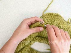 Encolure, fente (pour pull tunisien par exemple) : http://www.garnstudio.com/lang/fr/video.php?id=144