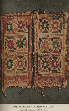 Manikéttia (cuffs) from child's costume, Agio Gala (Chios), early 19th century.