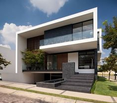 translation missing: tw.modern 住宅 by GLR Arquitectos Architecture Design, Modern Residential Architecture, Minimal Architecture, Amazing Architecture, Villa Design, Modern House Design, Facade House, Minimalist Home, Home Fashion