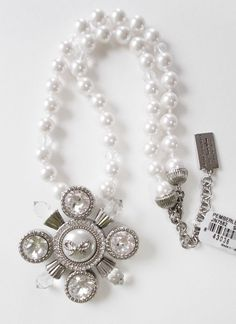 """Brighton My Flat in London """"Pemberly"""" Pearl and Crystal Necklace / Brooch $78 #Brighton #Necklacebrooch"""