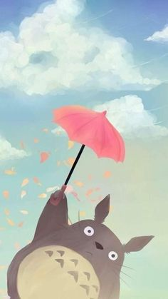 Kawaii Wallpaper, Disney Wallpaper, Iphone Wallpaper, Cute Cartoon Wallpapers, Animes Wallpapers, Totoro Drawing, Personajes Studio Ghibli, Studio Ghibli Characters, Anime Art