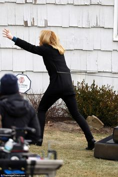 Who needs a stunt double! Claire Danes is thrown back onto a mattress by explosion on Homeland set in New York on Friday Stunt Doubles, Claire Danes, New Start, Stunts, Homeland, Sporty, Mattress, Friday, York