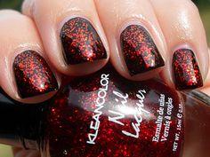 Chunky Holo Scarlet (glitter topcoat) $1