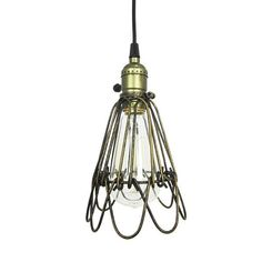 Iron Wire Bulb Cage, Clamp On Lamp Guard, For Vintage Trouble Lights | JJ Gensto