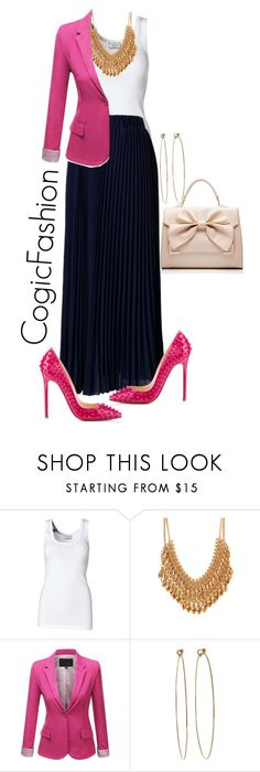 """""""Tonight at The Gospel According Dorinda!!"""" by cogic-fashion ❤ liked on Polyvore featuring By Malene Birger, Forever 21, J.TOMSON, Dean Harris, Christian Louboutin and Forever New"""