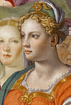 The Crossing of the Red Sea - Agnolo Bronzino. Detail.