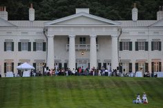 Wedding reception on the Mansion Portico.