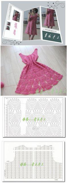 Vestido de Crochet Calado