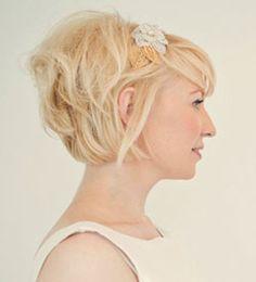 wedding style short bob with volume at back(Wedding Hair Bob)