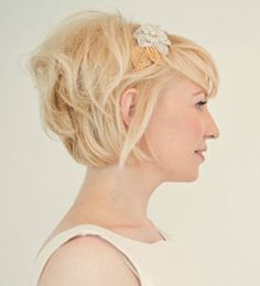 wedding style short bob with volume at back