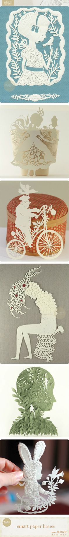 Exquisite papercut artist Elsa Mora