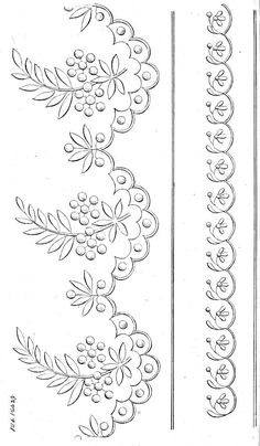 Border Embroidery Designs, Cutwork Embroidery, Hand Work Embroidery, Embroidery Flowers Pattern, Free Machine Embroidery Designs, Saree Painting Designs, Fabric Paint Designs, Bordado Popular, Lace Painting
