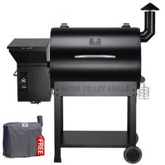 Z Grills 2019 New Model Wood Pellet Grill & Smoker, 8 in 1 BBQ Grill Auto Temperature Controls, 700 sq inch Cooking Area, Black Cover Included