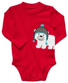 da040a7899e2 Carters Long Sleeve Bodysuit Red Polar BearNB * You can get additional  details at the image link. Baby Clothing Ideas · Baby Boy Footies and  Rompers