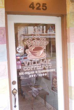 Entrance Village Coffee, Gourmet Sandwiches, Homemade Ice Cream, Entrance, Cow, Home Ice Cream, Entryway, Door Entry, Homemade Ice
