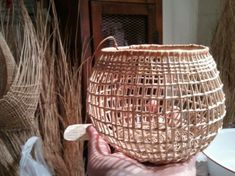 Open weave Karuk basket. Love this
