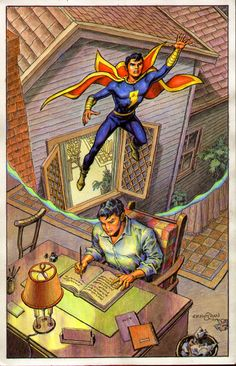 by Ernie Chan Captain Marvel Jr, Original Captain Marvel, Marvel Heroes, Marvel Dc, Marvel Comics, Comic Book Artists, Comic Artist, Comic Books, Dc Comics Collection