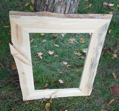 Rustic Knotty Pine Framed Mirror  Red Pine Framed by AlongtheRidge, $125.00