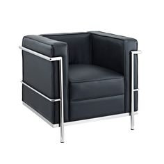 Thinking of mixing something like this in to my Art Deco style-- Modern Cube Chair - Black | dotandbo.com