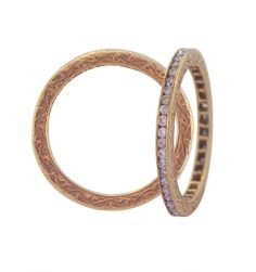 Sethi Couture - Rose gold and diamond bands.