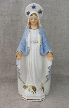 Virgin Mary Statue Figurine Worship Religious Devotional MicheleACAron on Etsy, $19.00