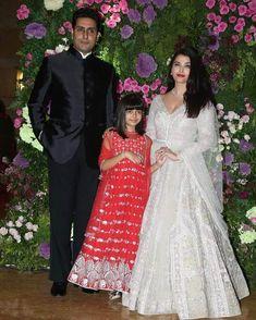 Aishwarya Rai Bachchan attended Armaan Jain and Anissa Malhotra's wedding ceremony in a white anarkali. Scroll ahead for a close-up of her decadent pick. Indian Wedding Fashion, Indian Fashion Trends, Churidar, Salwar Kameez, White Anarkali, Side Swept Hairstyles, Bollywood Wedding, Aishwarya Rai Bachchan, Bridesmaid Dresses