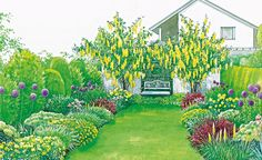 Mixed Borders English Garden is part of English garden Drawing - Mixed Borders English Garden Source by NevynS Landscaping Around House, Landscaping Near Me, Garden Landscaping, Garden Hoe, Lawn And Garden, Home And Garden, Dream Garden, Landscape Borders, Garden Borders