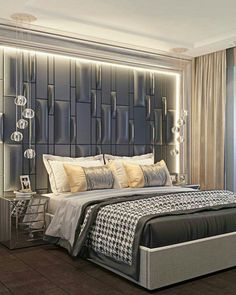 bedroom headboard designs that embellish your bedroom 11 Luxury Bedroom Design, Luxury Rooms, Master Bedroom Design, Luxurious Bedrooms, Home Decor Bedroom, Bedroom Wall, Luxury Bedding, Bedroom Inspo, Bed Headboard Design
