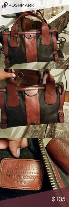 Fossil Vintage Revival bag Authentic, and lovely😍😍 vintage Fossil bag. Beautiful. Only flaws is what you see on last pic. This bag was well taken care of. Thanks for looking 😊😊 Fossil Bags Totes