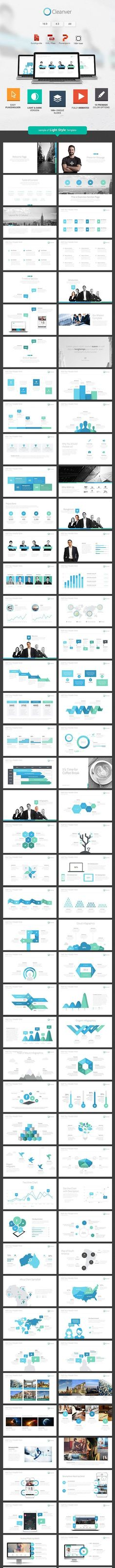 Buy Cleanver - Clean Powerpoint Presentation by SlideWerk on GraphicRiver. Cleanver is a Clean and modern Multi-purpose Powerpoint Presentation Template, designed with shape style, 3 size lay. Powerpoint Themes, Powerpoint Presentation Templates, Keynote Template, Map Vector, Presentation Design, Color Themes, Light In The Dark, Color Change, Infographic