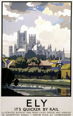 This Ely View of Cathedral across River Art Print Art Print is created using state of the art, industry leading Digital printers. Ely View of Cathedral across River Posters Uk, Railway Posters, Train Posters, Retro Posters, Ely Cathedral, Poster Size Prints, Art Prints, British Travel, Travel Uk