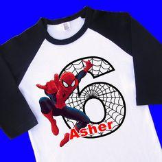 Spiderman Birthday Shirt. Spiderman Shirt. by UrbanSmartWear