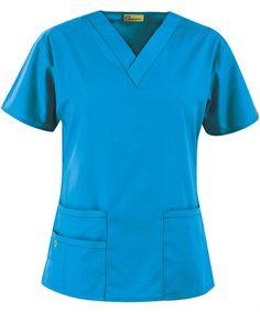 Origins Bravo Lady Fit V-Neck Top in Real Teal - WonderWink Scrubs Scrubs Uniform, Scrubs Outfit, Scrubs Pattern, Medical Scrubs, Nursing Scrubs, Nursing Clothes, Scrub Jackets, Womens Scrubs, Scrub Pants