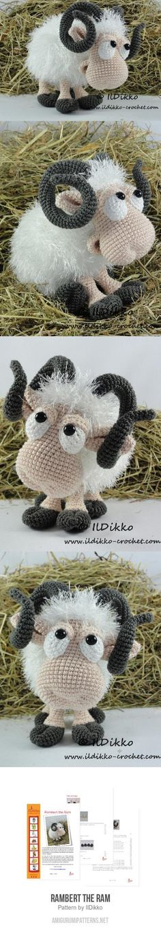 Rambert The Ram Amigurumi Pattern