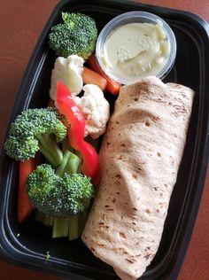 Chicken Ranch Wrap with Fresh Veggies and Homemade Garlic Scallion Aioli  -- Evensen Personal Menus