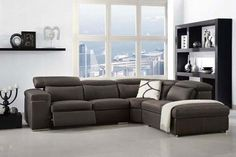 love this grey for leather, love this sectional