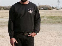 OleSkool Black Sweater (super soft)