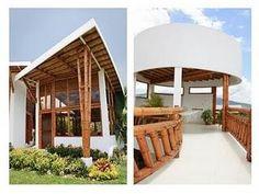 Casa chinauta - Paperblog Bamboo Design, Beach Villa, Interior Exterior, Acre, Gazebo, Architecture Design, Outdoor Structures, Bungalows, Green