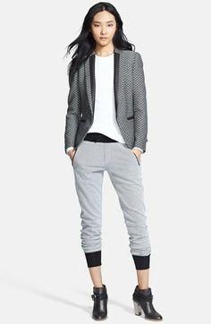 rag & bone Blazer, Top & Track Pants  available at #Nordstrom Love that blazer.