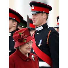 This photo shows the current Queen of the Commonwealth walking past the future King - her Grandson, and she just looks like any proud Grandma would. Gotta love that!
