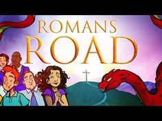 Romans Road to Salvation - The Book of Romans Bible Videos For Kids, Bible Stories For Kids, Bible Crafts For Kids, Bible Lessons For Kids, Bible For Kids, Romans For Kids, The Book Of Romans, Kids Sunday School Lessons, School Ideas