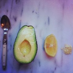 A Simple Afternoon Snack: Avocado with Lemon and Salt