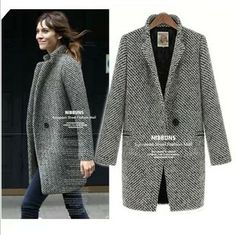 $53.59 Fashion women's winter new arrival thermal thickening british style long design woolen overcoat woolen outerwear female
