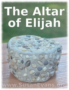 To make a craft of the altar of Elijah, all you will need is some white self-hardening clay and small pebbles. Roll the clay into the shape of an altar. Bible Activities For Kids, Bible Crafts For Kids, Vbs Crafts, Church Crafts, Camping Crafts, Kids Church, Church Ideas, Everest Vbs, Bible Object Lessons