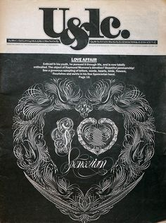 One of the first publications intended specifically for the design community, U&lc (shorthand for Upper and lower case) was a product of Herb Lubalin and the International Typeface Corporation. The production run of the magazine lasted from 1970 to 1999 and there were over 120 issues produced during that time. The magazine was an effort to display and advertise for the latest typefaces from ITC, which was the first type foundry to have nothing to do with the production of metal type.